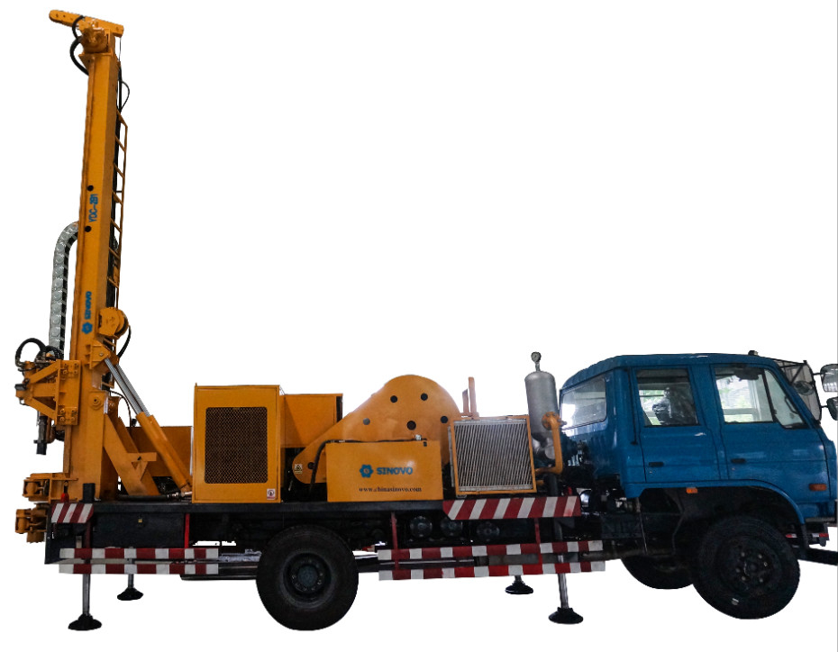 Multifunctional Medium Waterwell Drilling Rig Machine For Foundation Construction