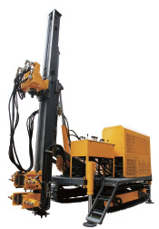 140m Depth 110mm Dia Hydraulic Drive 55kw Anchor Drilling Rig